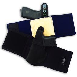 """Galco Ankle Lite Ankle Holster, Ruger Lcr 2"""", Rh, Black"""