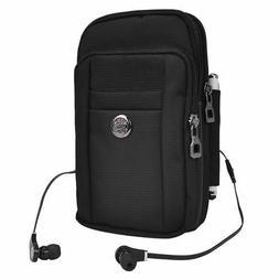 Black Belt Clip Cell Phone Pouch Holster Case Shoulder Bag f