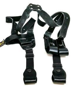 TAGUA black leather Left hand shoulder holster For Ruger LCP