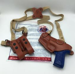 Cebeci Leather SHS Shoulder Holster w/ Dual Mags RH, RUGER P