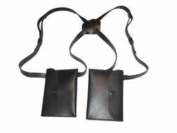Clarke & Barba Genuine Saddle Leather Shoulder Underarm Hidd