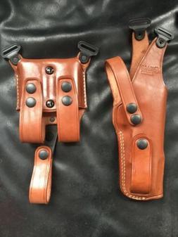 Colt 1911 5''BBL MASC Vertical Leather Shoulder Holster