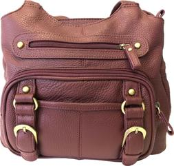 Concealed Carry Purse - Genuine Leather Locking CCW Gun Bag