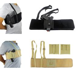Tactical Shoulder Holster Concealed Carry Belly Band Waist P