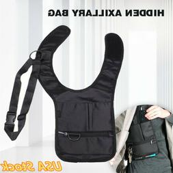 Concealed Underarm Shoulder Holster W/Additional Pouch Bag F