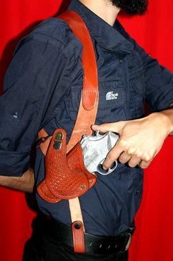 D063-R Basketweave Shoulder Holster 357 Magnum & Revolvers w