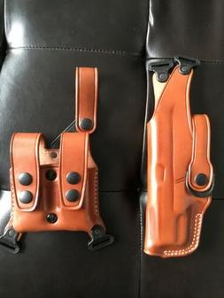 Glock 19/23/32 1014 Vertical Leather Shoulder Holster With D