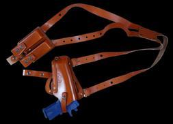 K446F Horizontal-Vertical Shoulder&Belt Holster with Double