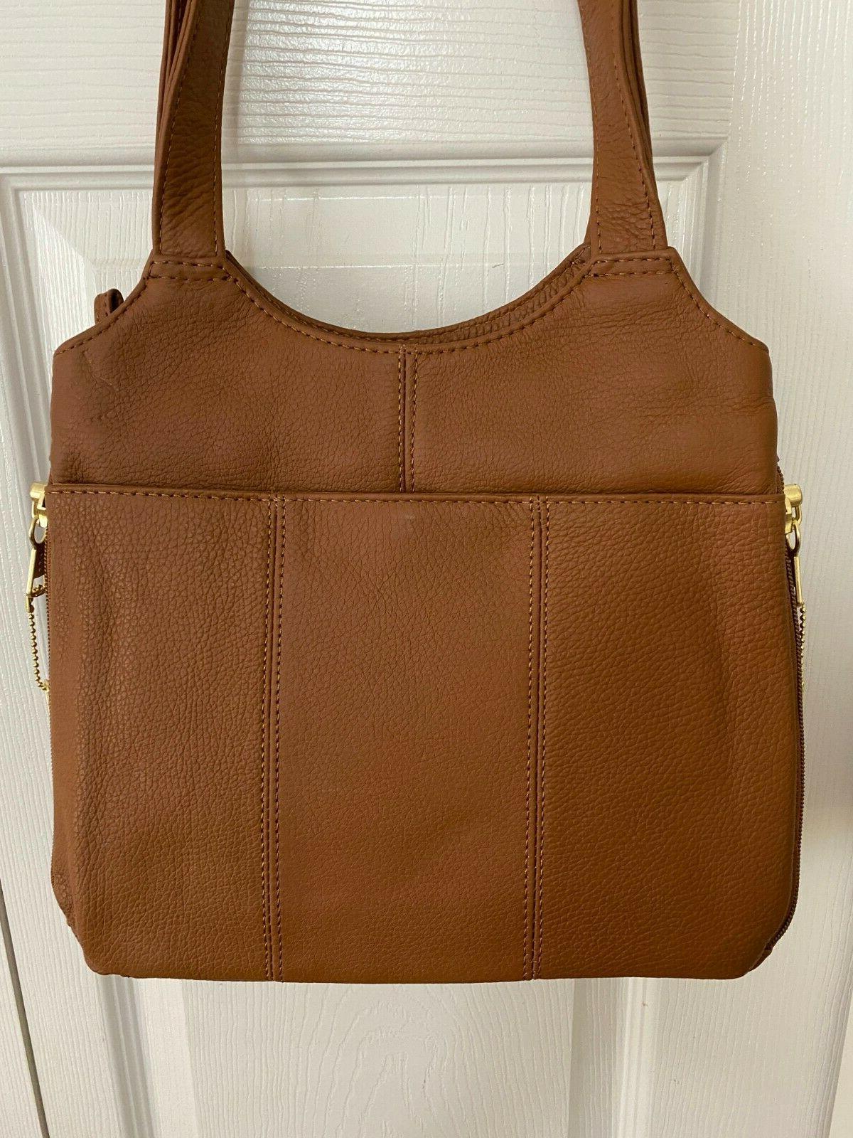 Roma or LEFT Carry Shoulder Bag CARAMEL