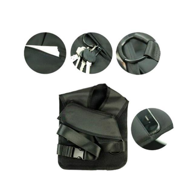 Anti-Theft Hidden Bag Phone Black Nylon Shoulder