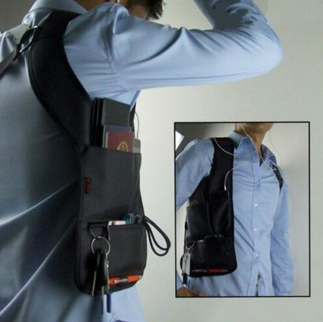 anti theft hidden underarm travel bag phone