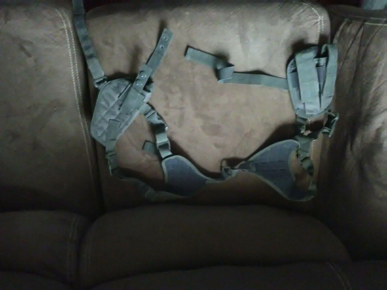 black ambidextrous pistol shoulder holster w double