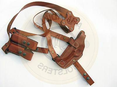 leather horizontal shoulder miami vice holster