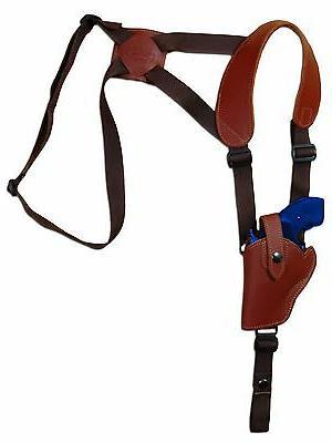 new burgundy leather vertical gun shoulder holster