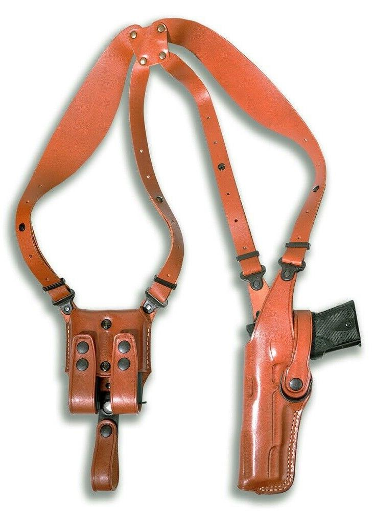vertical shoulder holster double magazine case beretta