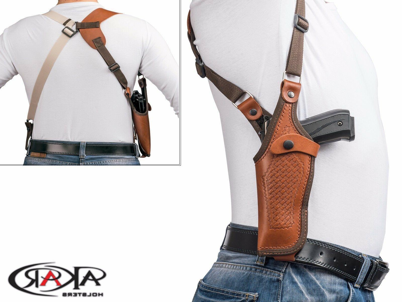 vertical shoulder leather holster for 1911 3