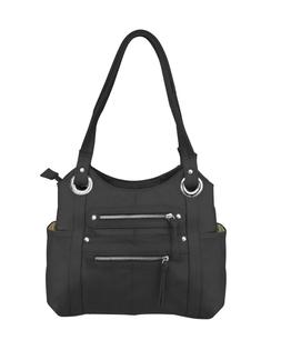 Leather Locking Concealment Purse - CCW Concealed Carry Gun