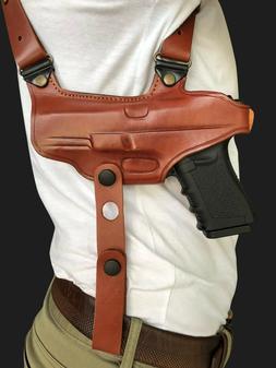 Leather Miami Shoulder Holster Choose Gun Model & Color & R/