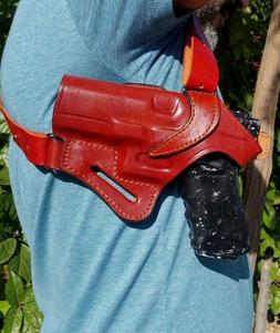 Leather Shoulder Holster.. Choose Gun Model & Color.