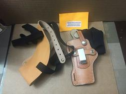 """Hunter Leather Shoulder Holster Mid Size Autos and 4"""" Revolv"""