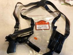 """LEFT HAND Leather Shoulder Holster - COLT 1911   5"""" barrel"""