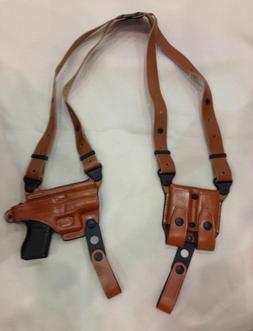 LEFT HAND Premium Leather Shoulder Holster for GLOCK 43   -