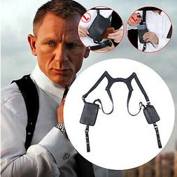 Mens Underarm Shoulder Bag Leather Anti Theft Adjustable Pho