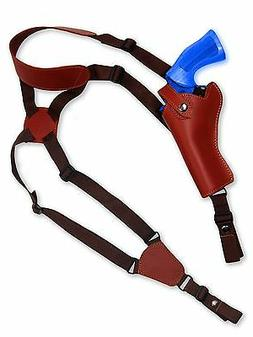 NEW Barsony Burgundy Leather Vertical Gun Shoulder Holster T