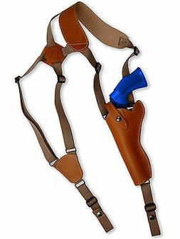 NEW Barsony Tan Leather Vertical Gun Shoulder Holster for Ta