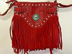 Red Cowgirl Concealed Carry Shoulder Purse