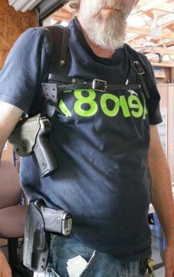 Glock 17 Custom Kydex Holster FBI SHOULDER RIG 12 colors to
