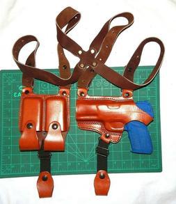 Tagua SH4-1232 RH Leather Shoulder Holster Dual Magazine Pou