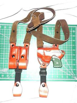 Tagua SH4-162 RH Leather Shoulder Holster 2 Magazine Pouch T
