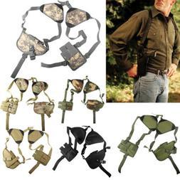 Tactical Double Gun Shoulder Holster Adjustable Horizontal P