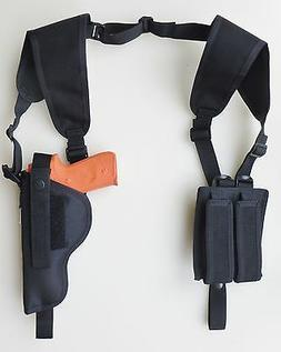 Vertical Shoulder Holster for BERETTA 92, 96 & M9 with Tacti