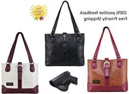 VISM Leather Concealed Carry Gun Purse CCW Shoulder Bag Hols