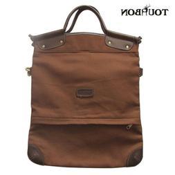 Tourbon Western Concealed Gun Carry Shoulder Bag Canvas Leat